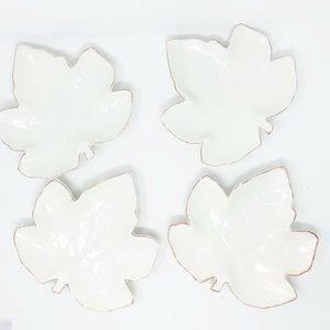Mikasa Countryside Harvest leaf plates - Set of 4
